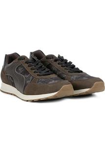 Tênis Shoestock Jogging Camuflado Masculino - Masculino