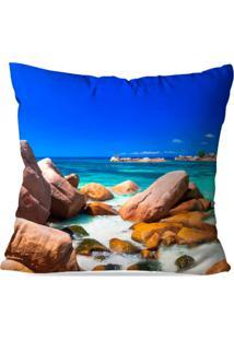 Capa De Almofada Avulsa Decorativa Praia Cristalina