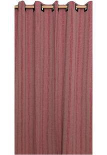 Cortina Brillance Para Varão Vinho E Vermelha (240X300)