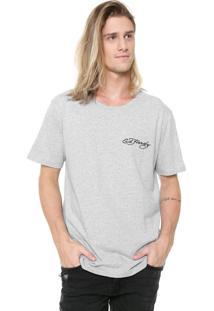 Camiseta Ed Hardy Tiger Head Cinza