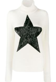 P.A.R.O.S.H. Sequinned Star Jumper - Branco