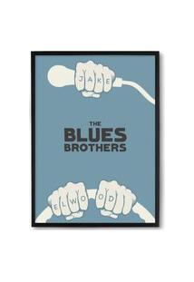 Quadro Decorativo 33X43Cm Nerderia E Lojaria Blues Brothers Preto