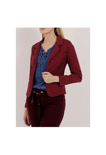 Blazer Feminino Autentique Bordô