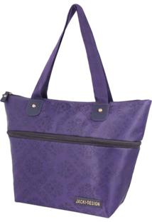 Bolsa Expansivel Tam. P Damasco Jacki Design Essencial Ii Roxo