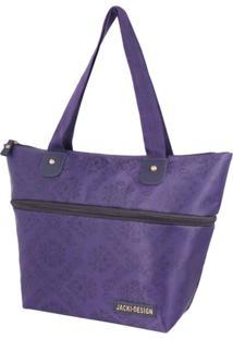 Bolsa Sacola Jacki Design Lisa Roxo