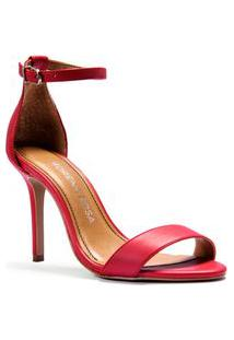 Sandalia Salto Alto Lisa Vermelho