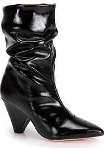 Ankle Boots Salto Fino Brenda Lee Verniz