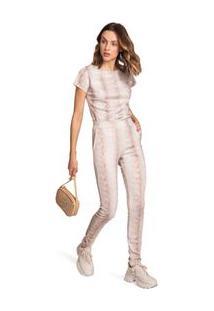Calça Morena Rosa Skinny Cós Intermediário Básica Off White