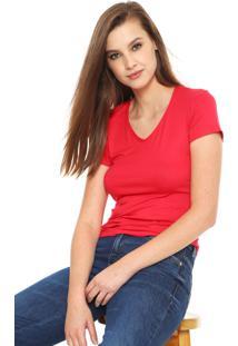 Camiseta Malwee Básica Rosa