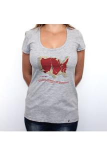 United Steaks Of America - Camiseta Clássica Feminina