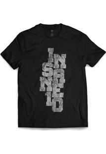 Camiseta Insane 10 Snake Preto