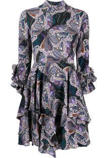 Etro Vestido Com Estampa Paisley - Azul