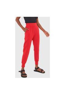 Calça De Moletom Osklen Jogger Cool Shape Vermelha