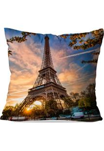 Capa De Almofada Avulsa Decorativa Paris 35X35Cm