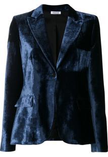 P.A.R.O.S.H. Blazer Slim De Veludo - Azul