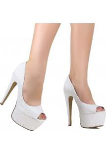 Sapato Zariff Shoes Peep Toe Salto Alto