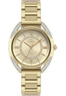 Relógio Technos Elegance Cristal 2035Mrd/4X Feminino - Feminino-Dourado