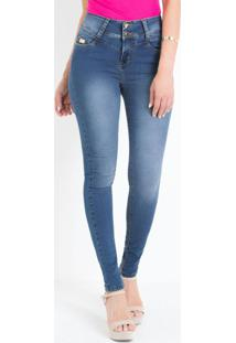 Calça Skinny Sawary Jeans Cintura Auto Ajuste