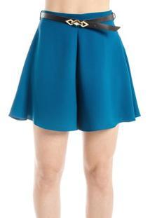 Short Alfaiataria Alphorria Feminino - Feminino-Azul