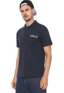 Camisa Polo Rusty Reta Wave Azul-Marinho