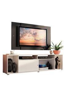 Rack Madesa Cancun E Painel Para Tv Até 58 Polegadas Branco/Preto 098N Preto