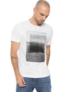 Camiseta Aramis Estampada Branca