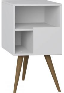 Criado-Mudo 1 Porta 1008 Retro Branco - Bentec