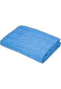 Lençol Queen Teka Diamante Jeans Azul Com Elástico 150 Fios