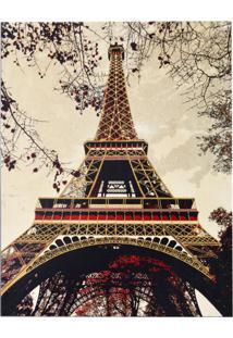 Tapete Retangular Veludo Marbella Epic Art Torre Eiffel Caramelo 148X200 Cm