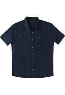 Camisa Básica Masculina Em Tecido Linho