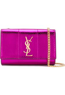 Saint Laurent Bolsa Transversal Kate - Rosa