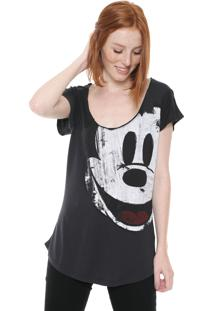 Blusa Desigual Mickey Grafite