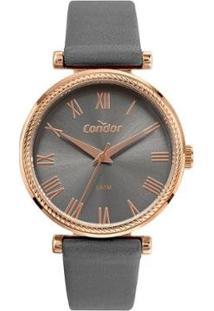 Relógio Condor Model Analógico Feminino - Feminino-Cinza