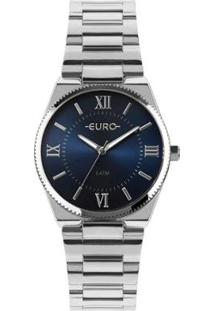 Relógio Euro New Basic Feminino - Feminino-Prata
