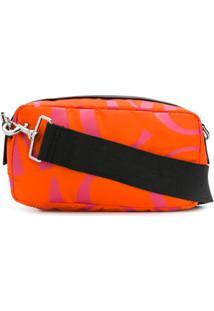 Mcq Alexander Mcqueen Medium Logo-Print Crossbody Bag - Laranja