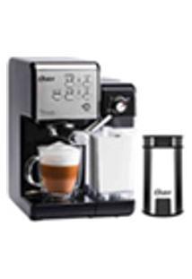 Kit Cafeteira Primalatte Black E Moedor De Cafe Oster - 220V