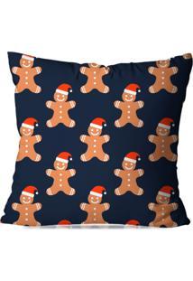 Capa De Almofada Love Decor Avulsa Decorativa Biscoitos De Natal