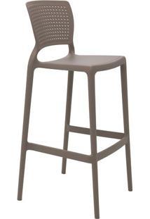 Cadeira Alta Bar Safira- Cinza- 104,5X49,5X47Cm-Tramontina