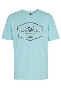 Camiseta O'Neill Estampada Crystalize - Masculina - Azul Claro