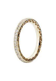 Anel Coração De Pandora- Dourado- Tamanho 58 = 18