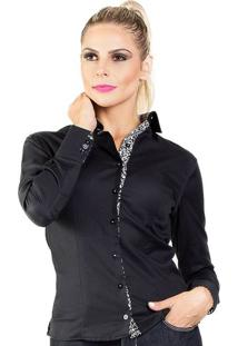 Camisa Feminina Slim Carlos Brusman