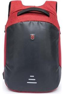Mochila Oh My Bag Swissport Antifurto - Unissex-Vermelho