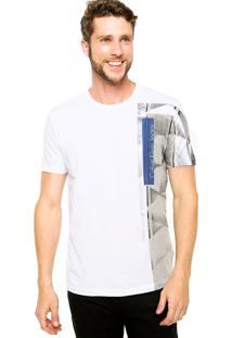 Camiseta Manga Curta Calvin Klein Jeans Geométrica Branca