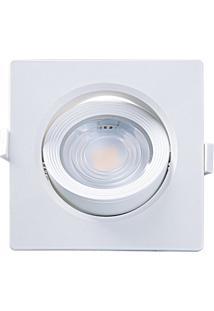 Spot Led De Embutir Quadrado Alltop 7W Autovolt 6500K Luz Branca
