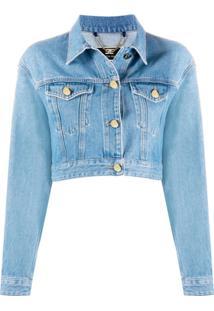 Elisabetta Franchi Cropped Denim Jacket - Azul
