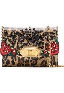 Dolce & Gabbana Bolsa Transversal Animal Print - Preto