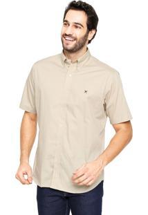 Camisa Polo Play Reta Classic Bege