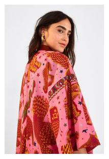 Kimono Midi Céu Do Pantanal