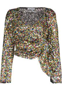 The Attico Blusa Com Paetês - 021 Multicoloured