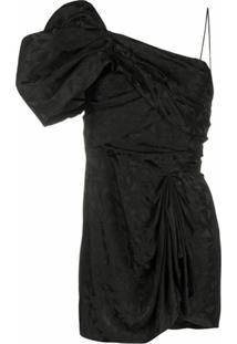 Isabel Marant Vestido Ombro Único - Preto